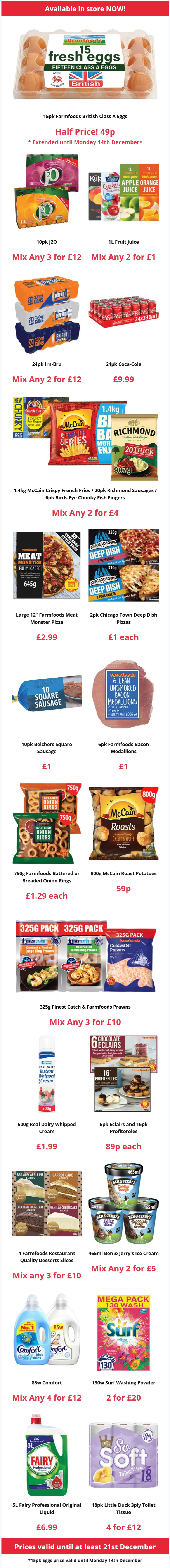 Farmfoods Offers Valid until at least 21st December 2020