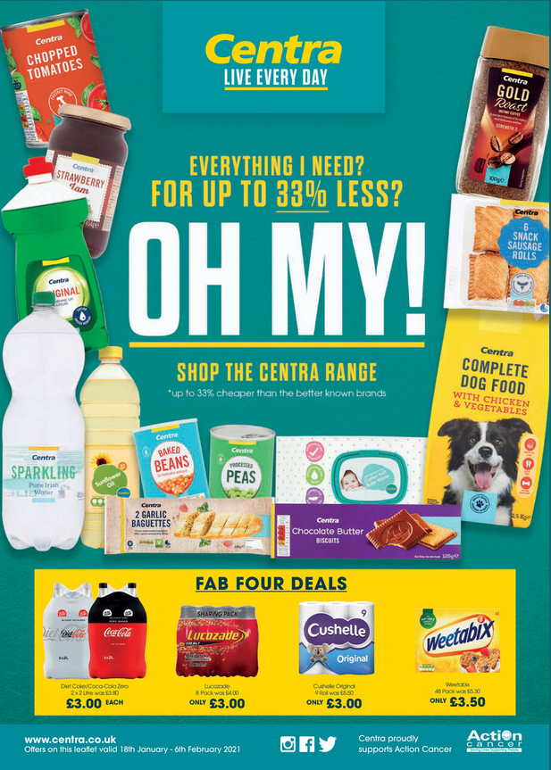 Centra Offers 18th January to 6th February 2021 Centra Deals