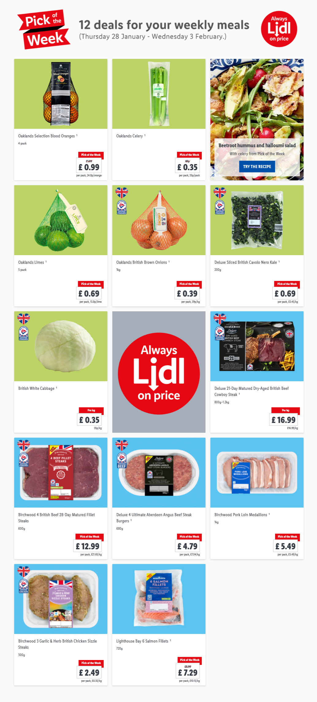 LiDL Pick Of The Week 28th January – 3rd January 2021 12 Deals Weekly Meals
