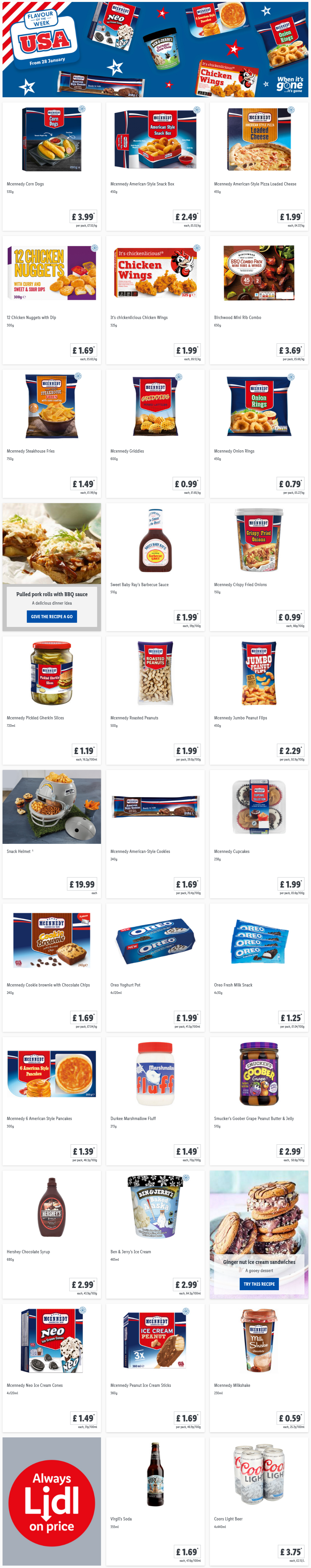 LiDL Flavour of The Week USA From 28th January 2021 LIDL Offers this Thursday