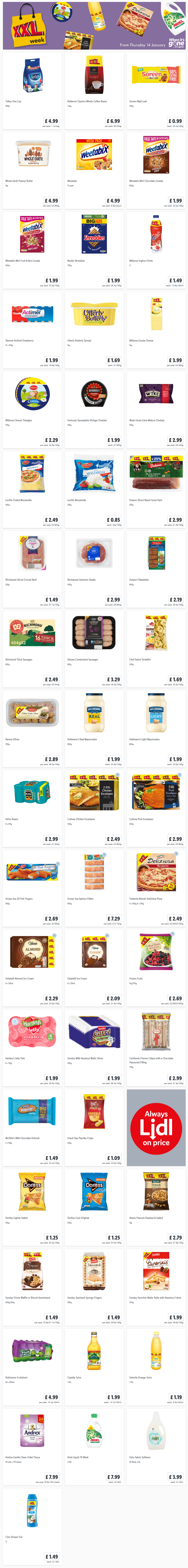 LiDL XXL Week Updates From 14th January 2021 LIDL Offers this Thursday