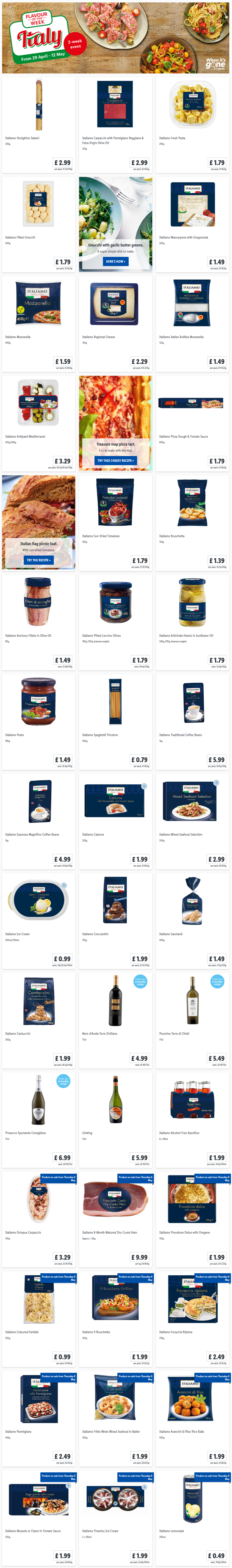 LIDL Offers this Thursday Flavour of The Week Italian From 29th April 2021