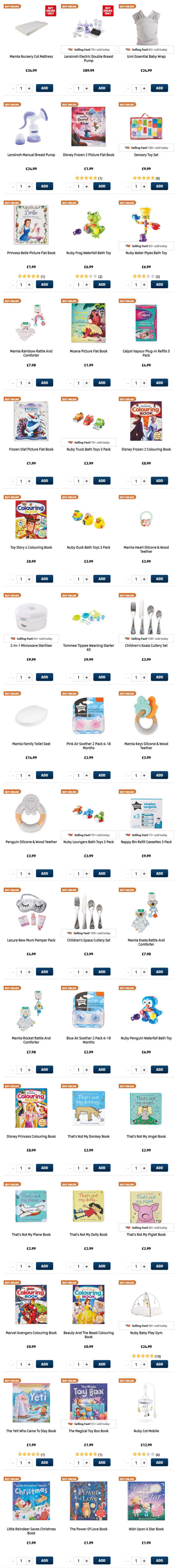 ALDI Baby & Toddler from 14th January 2021 ALDI Thursday Offers