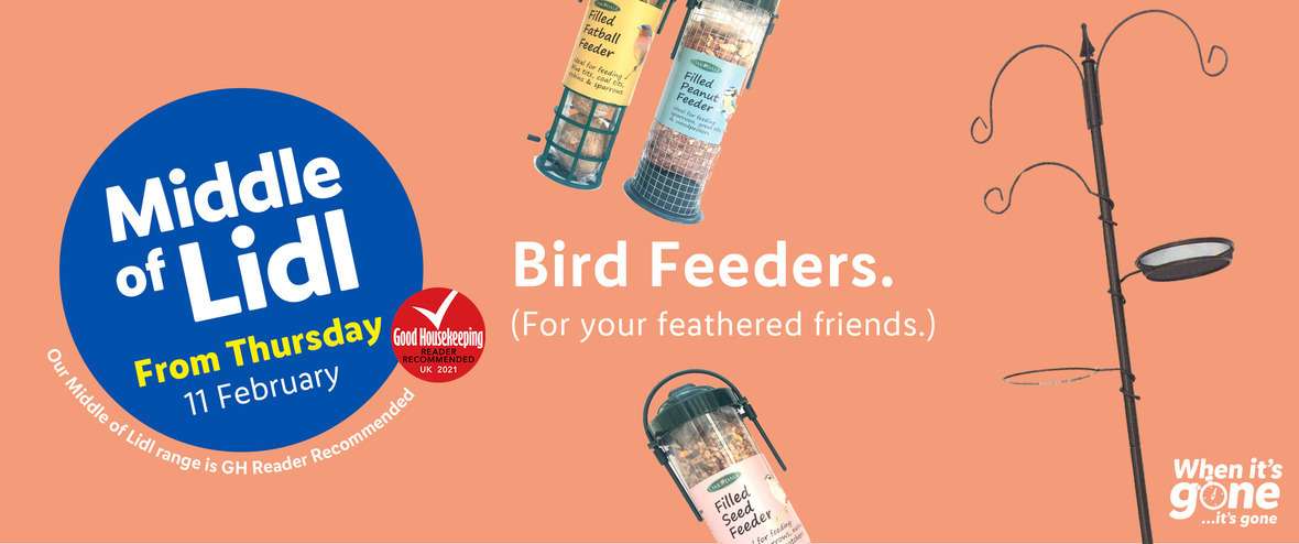 LiDL Bird Feeders From 11th February 2021 LIDL Offers this Thursday