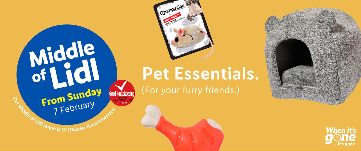 LiDL Pet Essentials from 7th February 2021 LiDL Sunday Offers