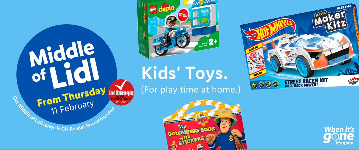 LiDL Kids Toys From 11th February 2021 LIDL Offers this Thursday