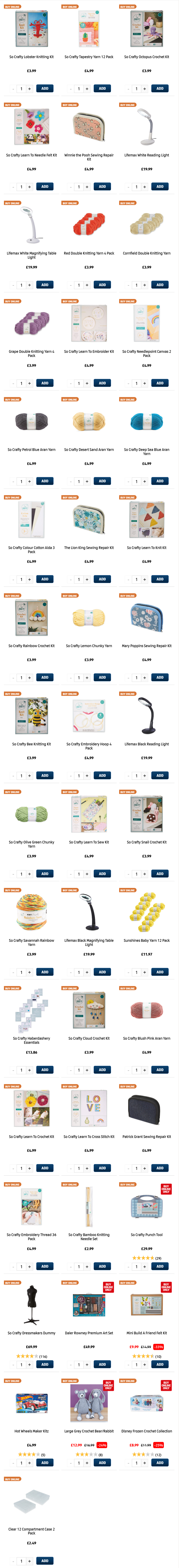 ALDI Hobbies & Crafts from 4th March 2021 ALDI Thursday Offers
