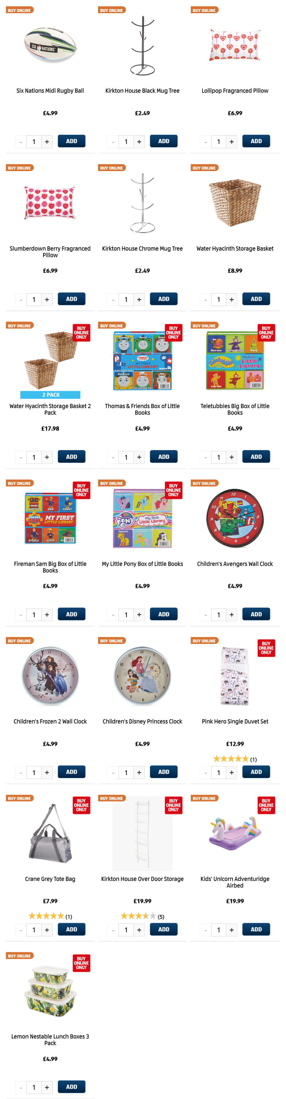 ALDI Kids Bedroom, Storage, Rugby from 4th February 2021 ALDI Thursday Offers