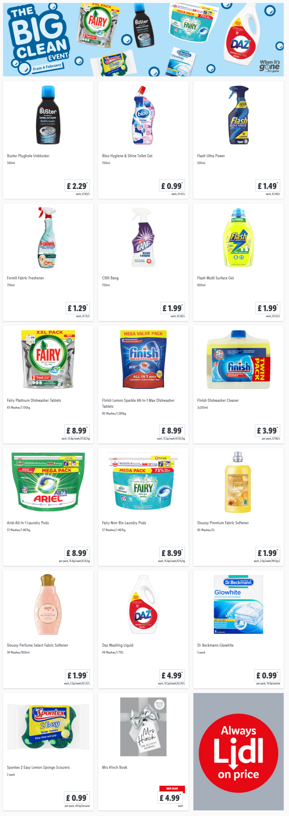 LiDL The Big Clean Event From 4th February 2021 LIDL Offers this Thursday