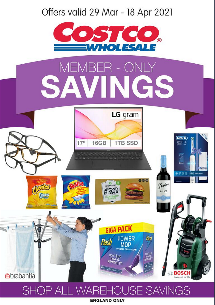 Costco Offers 29th March to 18th April 2021 Costco Online Wholesale