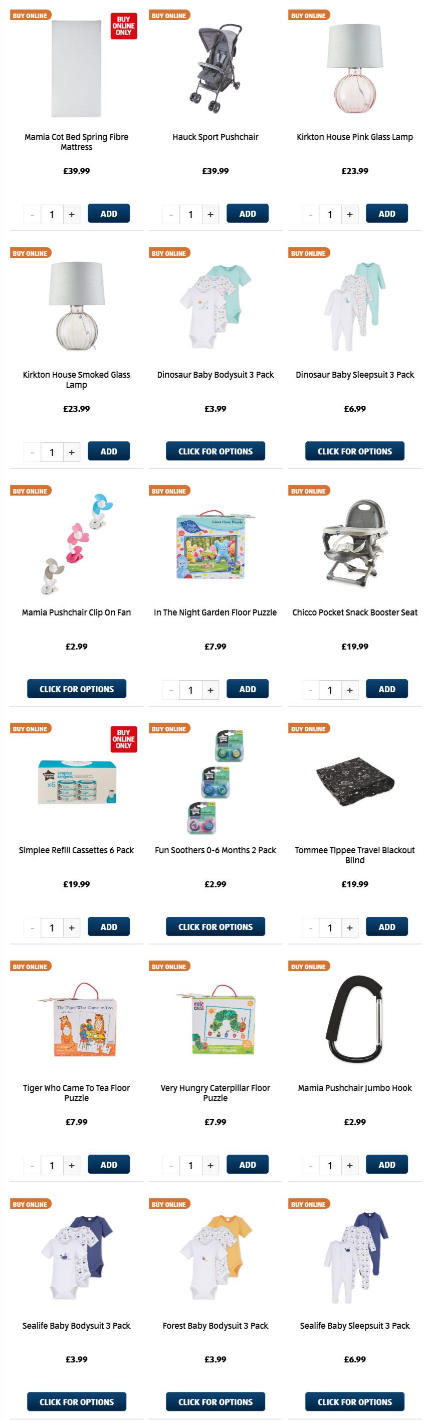 ALDI Baby & Toddler 5th April 2021 ALDI Monday Offers