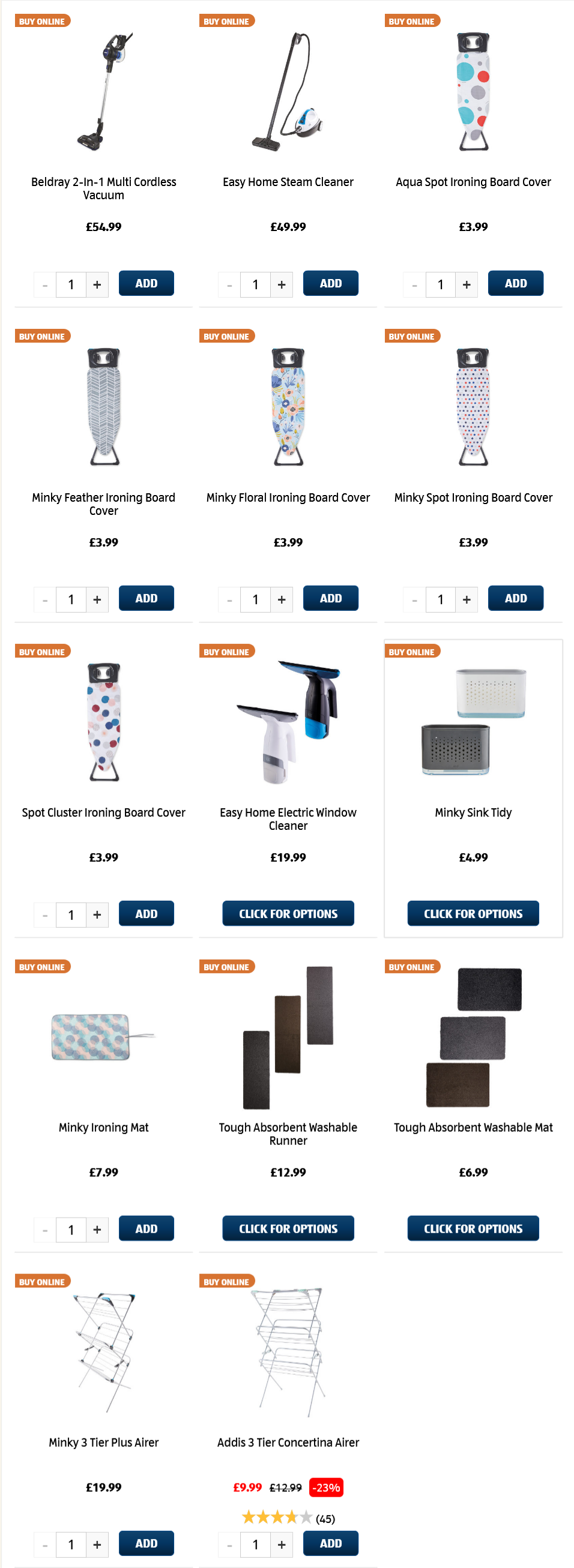 ALDI Laundry & Cleaning 14th March 2021 ALDI Sunday Offers