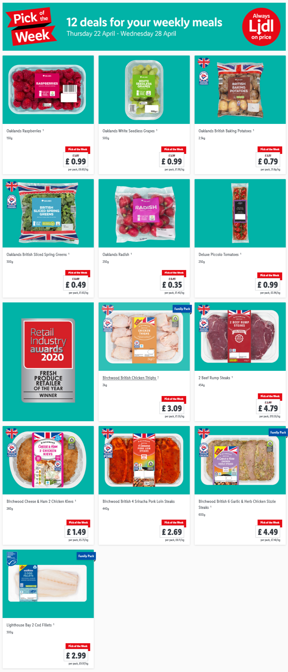 LIDL Pick of The Week 22nd April - 28th April 2021 Next Week Preview