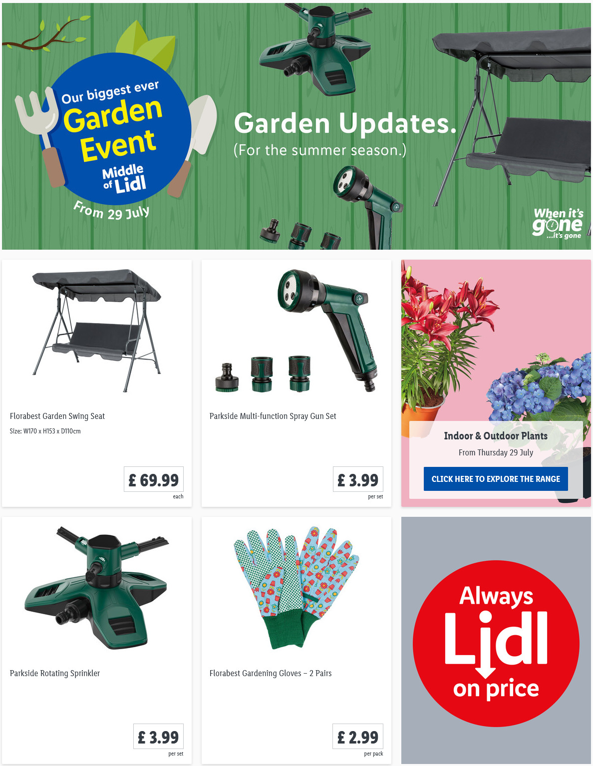 LIDL Offers this Thursday Garden Tools From 29th July 2021