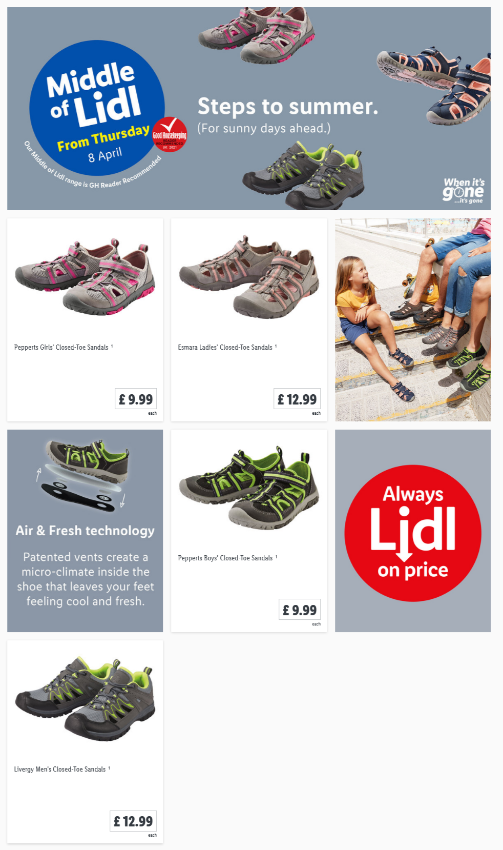 LiDL Steps To Summer From 8th April 2021 LIDL Offers this Thursday