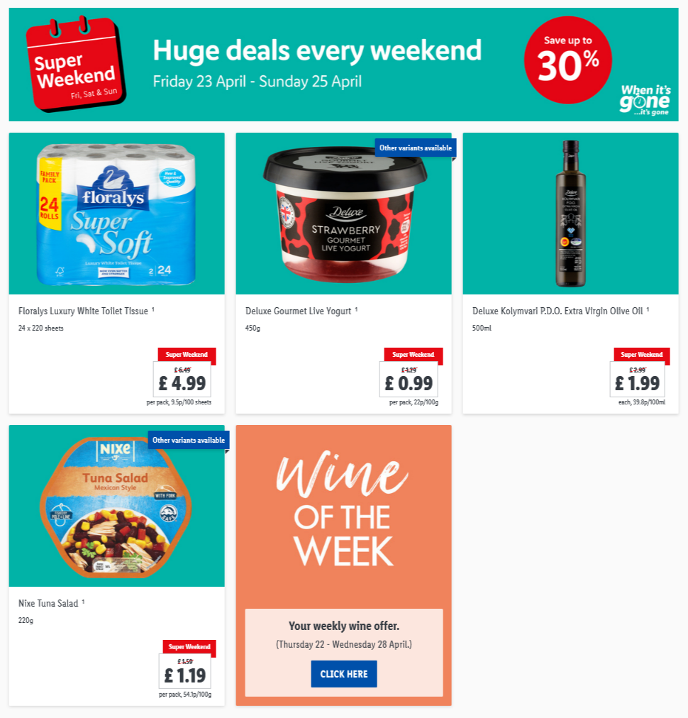LIDL Weekend Offers from 23rd April 2021