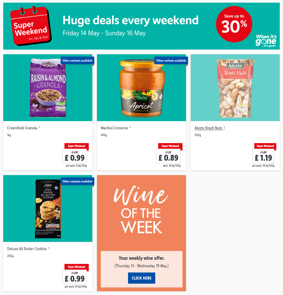 LiDL Weekend Offers 14th May – 16th May 2021 LiDL Super Weekend