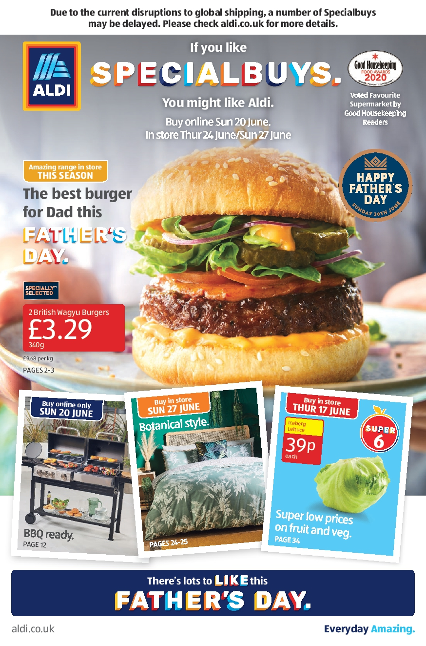 Aldi Leaflet Special Buys This Week 20th June - 27th June 2021