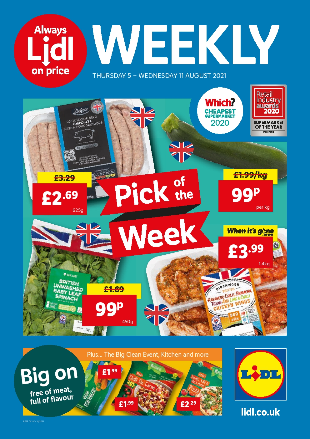 Lidl Offers 5th August to 11th August, 2021 Lidl Leaflet