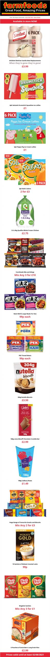 Farmfoods Offers until at least 2nd August 2021 Online Preview