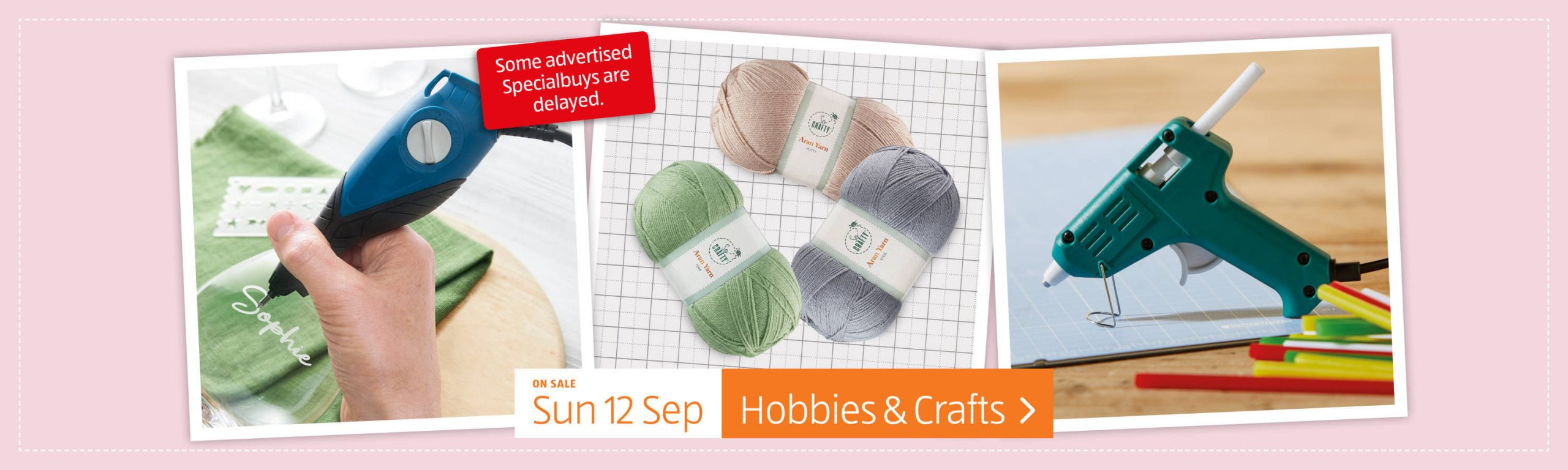 ALDI Hobbies & Crafts in ALDI Sunday Offers This Week 12th September 2021