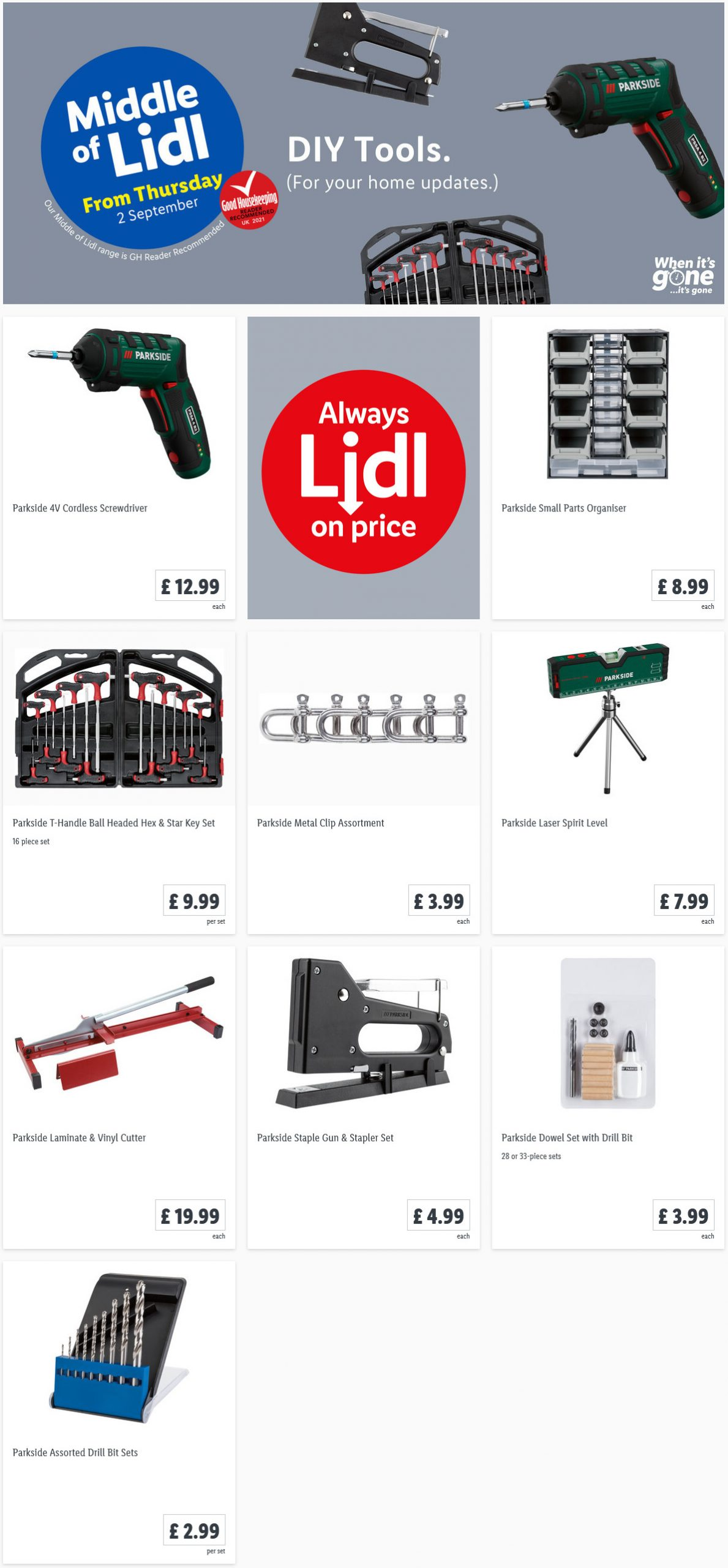 LiDL DIY Tools in LiDL This Thursday Offers 2nd September 2021
