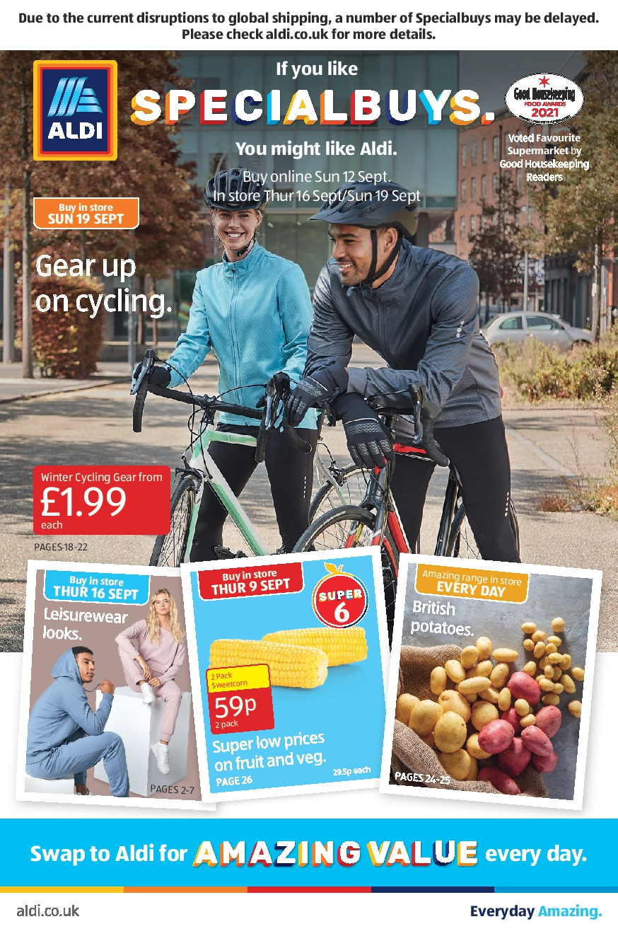 Aldi Leaflet Special Buys This Week 12th September - 19th September 2021
