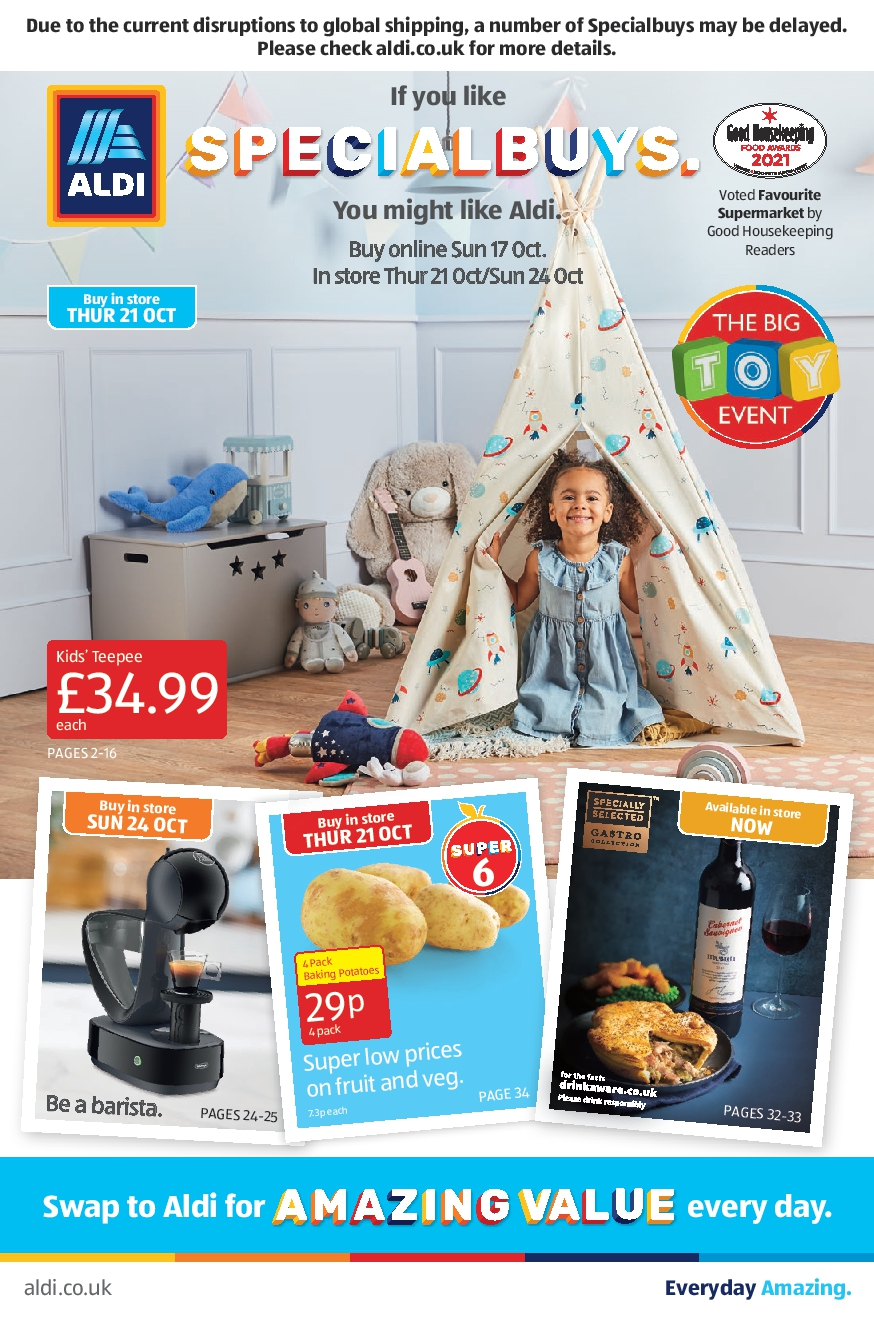 Aldi Leaflet Special Buys This Week 17th October - 24th October 2021